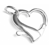 SS.925 Large Heart Clasp W Jr 20x21mm